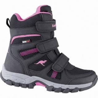 Kangaroos K-Rani Mädchen Winter Synthetik Tex Boots black, 13 cm Schaft, Fleecefutter, herausnehmbare Decksohle, 3741152/28