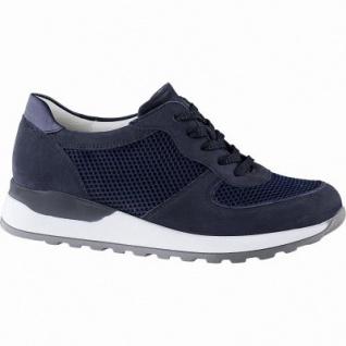 Waldläufer Hiroko 20 sportliche Damen Leder Sneakers marine, Extra Weite H, Leder Fußbett, für lose Einlagen, 1342147/4.0