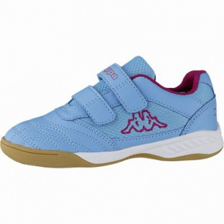 Kappa Kickoff Mädchen Synthetik Sportschuhe blue, auch als Hallen Schuh, Meshfutter, herausnehmbares Fußbett, 4041118/38