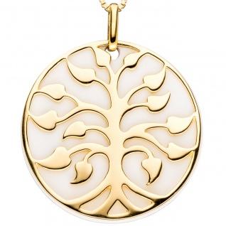 Anhänger Baum 925 Sterling Silber gold vergoldet 1 Achat-Imitation - Vorschau 3