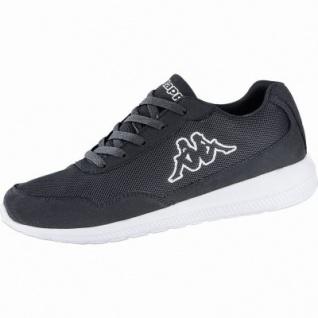 Kappa Follow modische Damen, Herren Mesh Synthetik Sneakers black, herausnehmbares Kappa Fußbett, 4240120