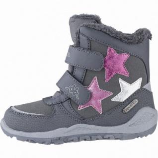 Kapppa Glitzy Tex K Mädchen Synthetik Winter Boots grey, 11 cm Schaft, Warmfutter, Kappa Fußbett, 3741130/35