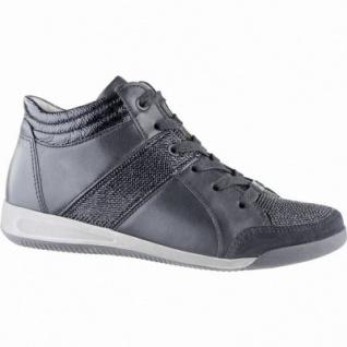 Ara Rom-STF modische Damen Leder Sneakers schwarz, Comfort Weite G, Textilfutter, ARA Fußbett, 1339117/6.0