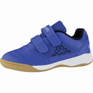 Kappa Kickoff Mädchen, Jungen Synthetik Sportschuhe blue, auch als Hallen Schuh, Meshfutter, herausnehmbares Fußbett, 4041119/36