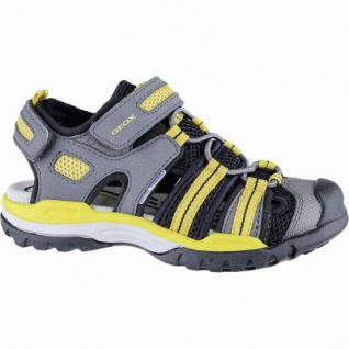 Geox coole Jungen Synthetik Sandalen grey, weiches Geox Fußbett, Antishock, 3540128