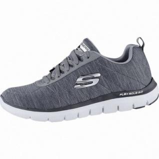 Skechers Flex Advantage 2.0 coole Herren Jersey Sneakers grey, Skechers Air Cooled Memory Foam-Fußbett, 4240165
