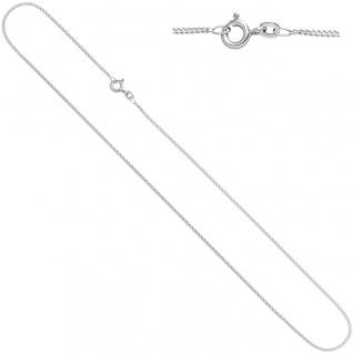 Schmuck-Set Knoten 585 Gold Weißgold 3 Diamanten Ohrringe und Kette 42 cm