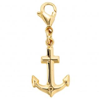 Einhänger Charm Anker 333 Gold Gelbgold Goldcharm