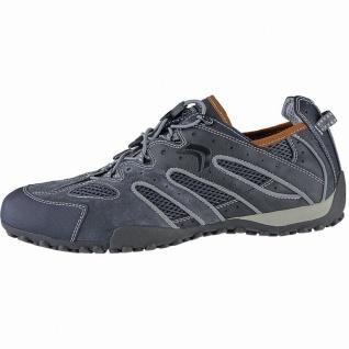 Geox sportliche Herren Leder Sneakers grey, Geox Laufsohle, Geox Fußbett, Ant...