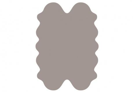 exklusive Lammfell Fellteppiche taupe gefärbt, 4 Einzelfelle, waschbar, Haarl...