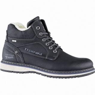 TOM TAILOR sportliche Herren Leder Imitat Winter Tex Boots schwarz, 12 cm Schaft, Warmfutter, warmes Fußbett, 2541113/44