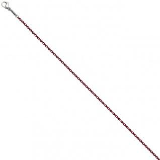 Rundankerkette Edelstahl rot weinrot lackiert 42 cm Kette Halskette Karabiner