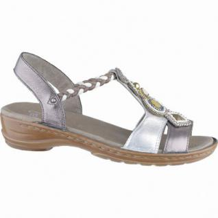 Ara Hawaii stylishe Damen Leder Sandalen blau, Comfort Weite G, 1540136/37