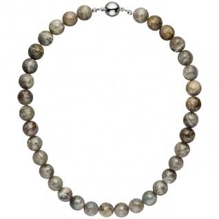 Halskette Kette Labradorith 45 cm Labradorithkette Steinkette Edelsteinkette