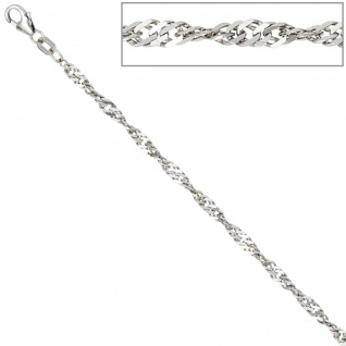 Singapurkette 925 Silber 2, 9 mm 42 cm Halskette Kette Silberkette Karabiner - Vorschau 4