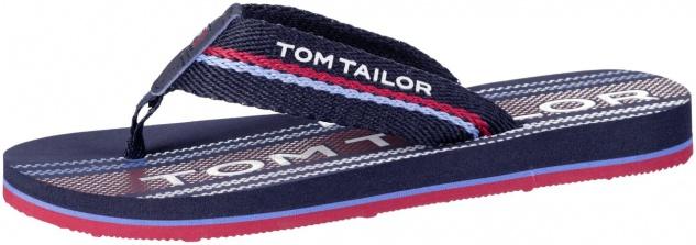 TOM TAILOR Jungen Textil Pantoletten navy, softes Fußbett, weiche Laufsohle