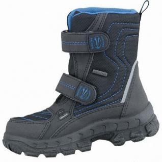 Richter Jungen Winter Tex Boots schwarz, mittlere Weite, molliges Warmfutter, warmes Fußbett, 3737182/38