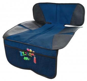 Kindersitz Unterlage blau rutschsicher, Kinder Autositzauflage, hohes Rückent...