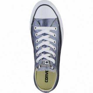 Converse CTAS Chuck Taylor All Star coole Damen Metallic Canvas Sneakers Low blue fire, Textilfutter, 1239110/36.5 - Vorschau 2
