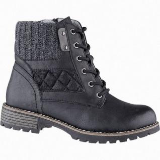Jana sportliche Damen Leder Imitat Winter Boots schwarz, Extra Weite H, molliges Warmfutter, warme Decksohle, 1741175