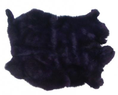 Kaninchenfelle dunkles violett gefärbt, ca. 30x30 cm, Felle vom Kaninchen mit...