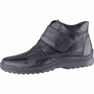 Waldläufer Hendrik Herren Leder Winter Boots schwarz, Lammfellfutter, herausnehmbares Fußbett, Extra Weite, 2539167/10.0