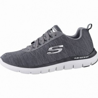 Skechers Flex Advantage 2.0 coole Herren Jersey Sneakers char, Air-Cooled Memory Foam-Fußbett, 4242116/39
