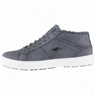 Kangaroos K-Wu Herren Synthetik Winter Sneaker Boots steel grey, Warmfutter, warme Decksohle, Laschen-Tasche, 2541109/44