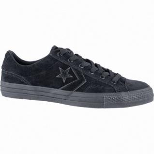 Converse Star Player - OX coole Herren Leder Sneakers black, Converse Laufsohle, 2140110/42.5