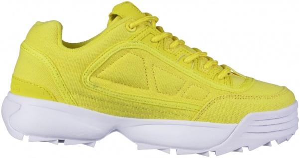 KAPPA Rave Sun coole Damen Canvas Sneaker yellow, herausnehmbare Decksohle - Vorschau 2