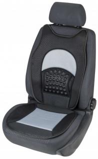 weiche Universal Auto Sitzauflage New Space grau, hohes Rückenteil, 36 Massagenoppen, 30 Grad waschbar, alle PKW, Sitzschoner