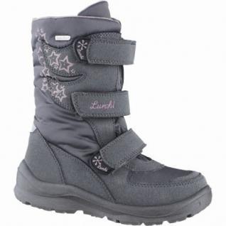 Lurchi Koby Mädchen Winter Synthetik Tex Stiefel grey, Warmfutter, warmes Fußbett, 3739123