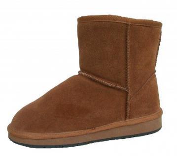 Heitmann Felle Damen Lammfell Leder Winter Boots camel, warme Laufsohle, trendige Profilsohle, Lammfell Futter, Gr. 42