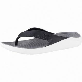 Crocs Lite Ride Flip superweiche + leichte Damen, Herren Flips black smoke, 4342109/36-37