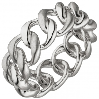Damen Ring 925 Sterling Silber teil matt Silberring