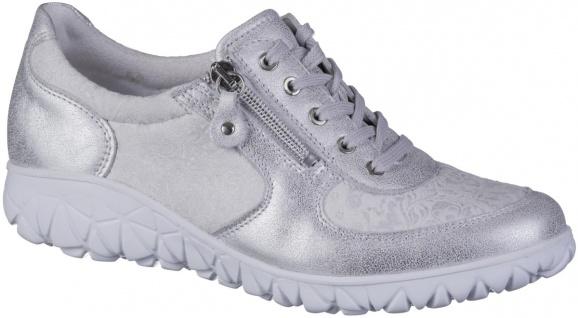 WALDLÄUFER Havy Soft Damen Leder Sneakers silber, Extra Weite H, Waldläufer L...