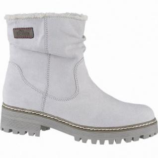 s.Oliver coole Damen Velourleder Imitat Winter Boots grau, molliges Warmfutter, Soft-Foam-Fußbett, 1641110