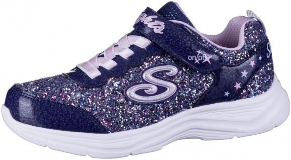 SKECHERS Glimmer Kicks Glitter N Glow Mädchen Sneakers navy, Skechers Laufsohle