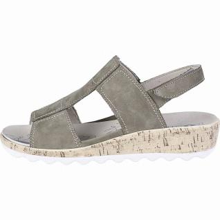 Romika Gina 07 modische Damen Leder Sandalen moos, herausnehmbares Fußbett