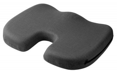 orthopädisches Memory Foam Gel Sitzkissen schwarz 45x35x6 cm, entlastet Rücken+Wirbelsäule, für Auto, Büro