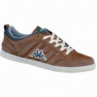 Kappa Rooster modische Herren Synthetik Sneakers brown navy, Sneaker Laufsohle, 2138208/40