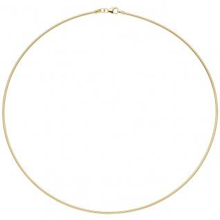 Halsreif 925 Sterling Silber gold vergoldet 1, 5 mm 45 cm Kette Halskette