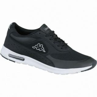 Kappa Milla coole Damen Synthetik Mesh Sneakers black white, Sneaker Laufsohle, 4238198/37
