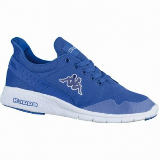 Kappa New York coole Damen, Herren Mesh Synthetik Sneakers blue white, Sneaker Laufsohle, 4238206/38
