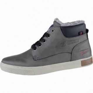 TOM TAILOR coole Herren Leder Imitat Winter Sneakers coal, Warmfutter, Tom-Tailor-Laufsohle, 2539169/44