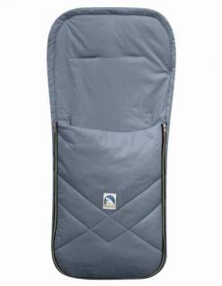 Baby Sommer Fußsack mit Baumwolle grau, waschbar, für Kinderwagen, Buggy, ca. 94x42 cm