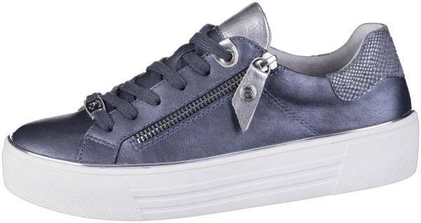 DOCKERS Damen Leder Imitat Sneakers blau, Microfutter, weiche Decksohle