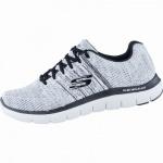 Skechers Missing Link coole Herren Mesh Sneakers white black, Air-Cooled-Memory-Foam-Fußbett, 4238184/40