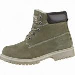 Dockers coole Mädchen, Jungen Leder Winter Boots oliv, Warmfutter, Dockers Profilsohle, 3739178