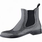 Beck Glitter chice Damen PVC Regen Boots silber glitter, herausnehmbare Einlegesohle, 5040103